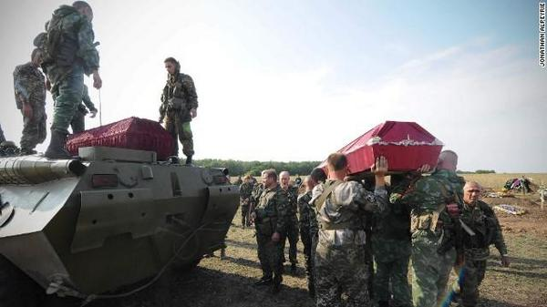 Russian militants killed in Ukraine are buried in Donetsk