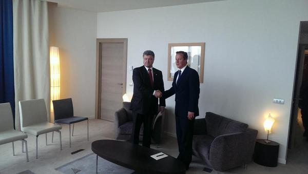 UK Cameron expressed support for Ukraine