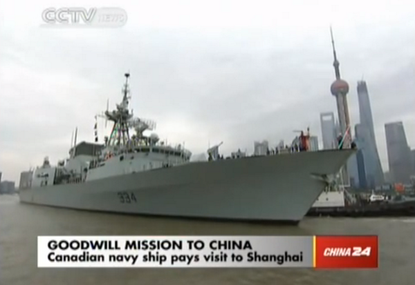 HMCSRegina greeted in Shanghai as an old friend