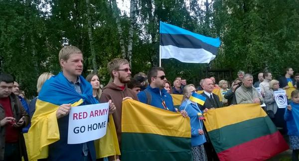 Protest near Russia embassy in Lithuania