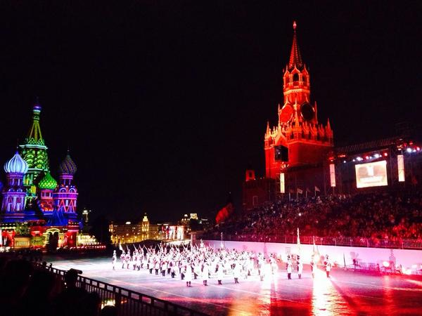 Swiss grenadiers on the Red square. Moscow