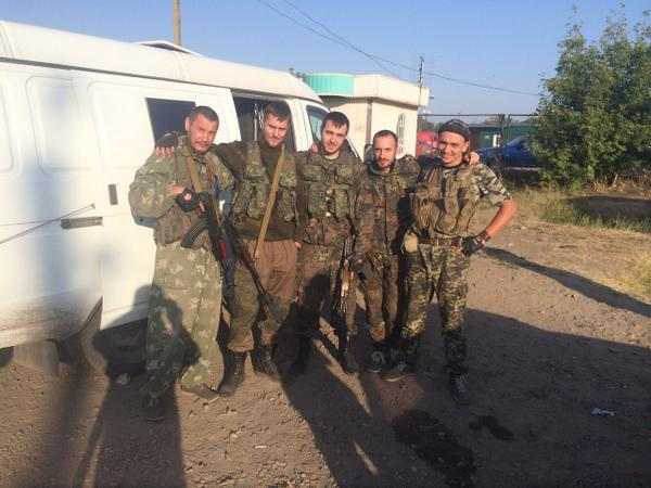 Militants from Moscow in Luhansk. As usual boasting in social networks