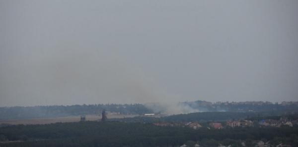 Fire in Nizhnya Krynka