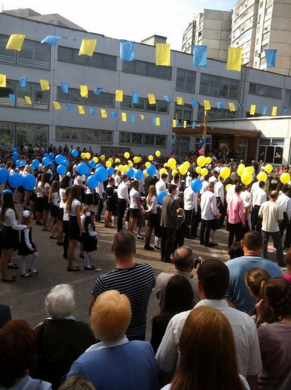 First day of school in Kharkiv