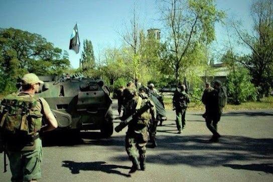 Russian troops in Slavianoserbsk