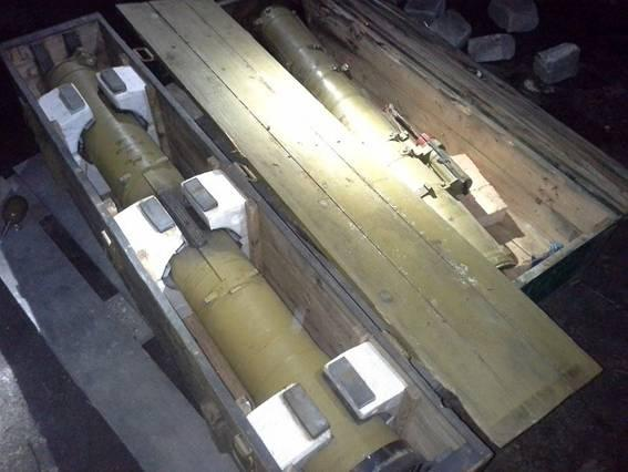 A cache of anti-tank guided missiles was found In the center of Slavyansk
