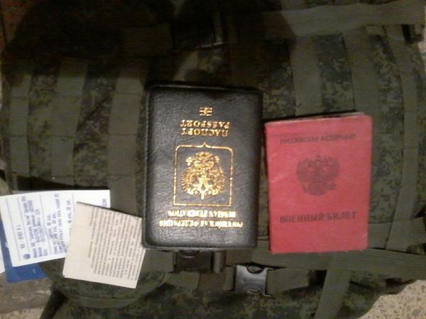 Juan Rojas fr btln Donbas brought fr Ilovaisk kettles documents of dead RUS sldrs