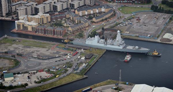 British and French warships arriving in Cardiff Bay for NATOSummitUK