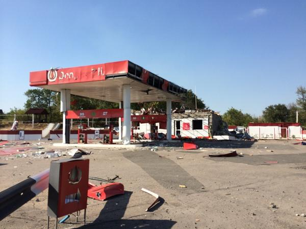 Militants say the bridge & petrol station on road between Donetsk & Luhansk was blown up yesterday
