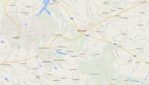 Ukrainian forces left Debal'tseve