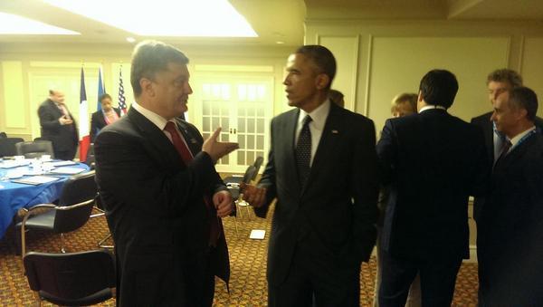 Poroshenko discussed with Obama aggression against Ukraine