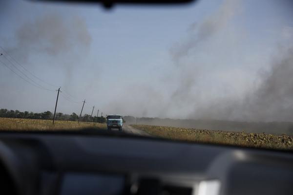 Shelling in Olenivka