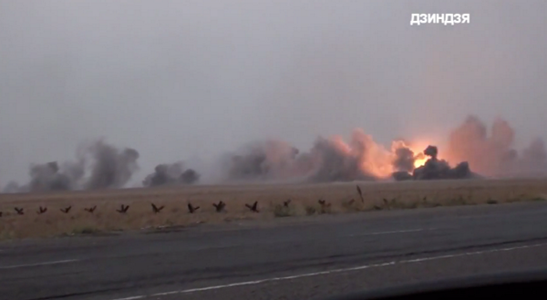 Grad missile attack by Russian forces near Mariupol