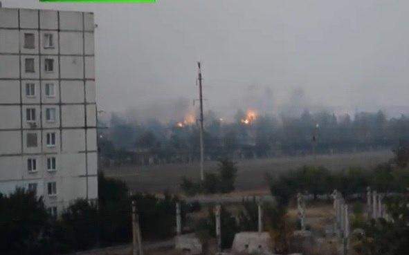 Artillery strikes near Mariupol