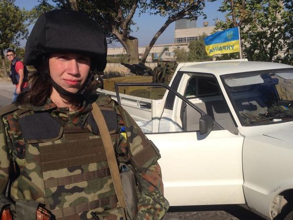 Tetyana Chornovol beaten in Maidan, than in government, now fighting in Mariupol with Azov Batalion.