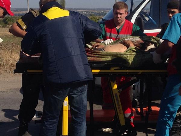 Wounded ukr soldiers in Mariupol. Many of them