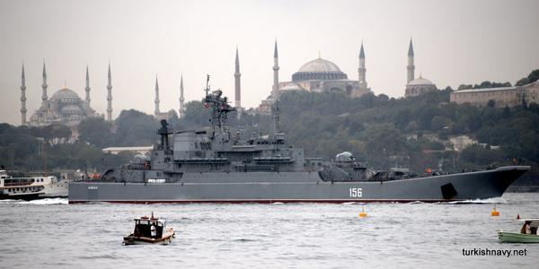 Russian landing ship Yamal passed through the Bosphorus this morning