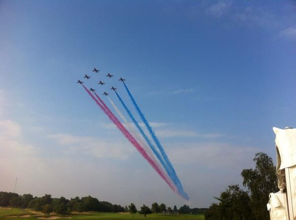 RedArrows joined by NATO alliance aircraft flypast over Newport NATOSummitUK