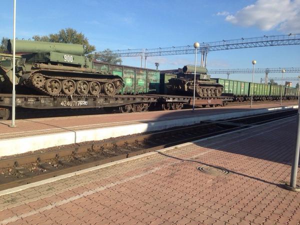 Armored crawlers in Zheleznogorsk
