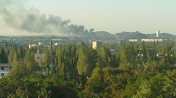 Fire in Makiivka