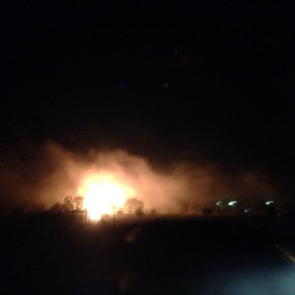 Gas station hit near Mariupol as shelling seems to have resume after ceasefire. Photo via @ronzheimer: