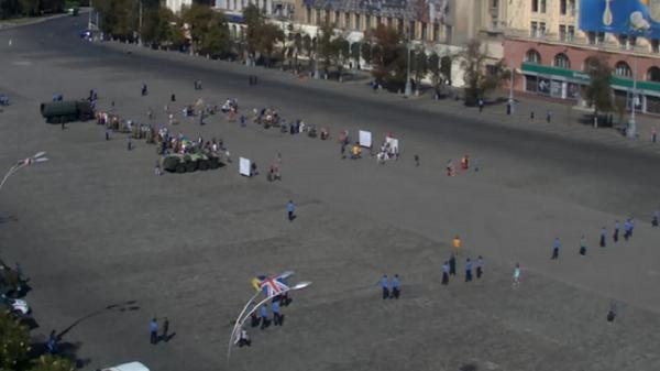 Patriots' rally in Kharkiv begins