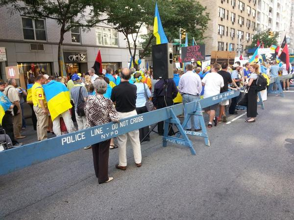 More supporters of anti-Russian rally in NYC join Ukrainian Americans