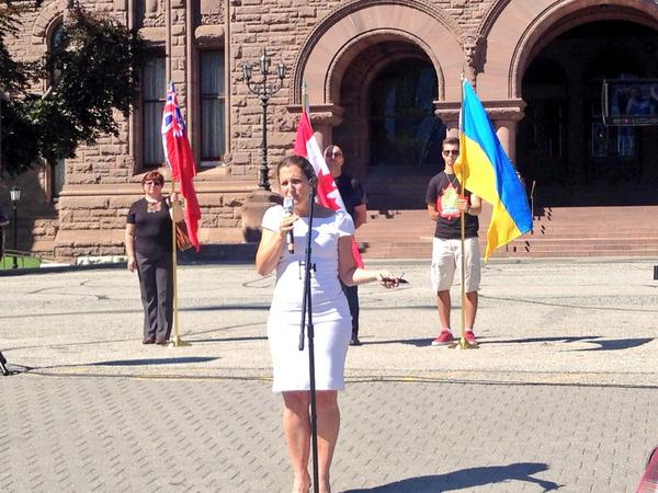 4th annual Ukrainian Heritage Day celebrations at Queen's Park today!