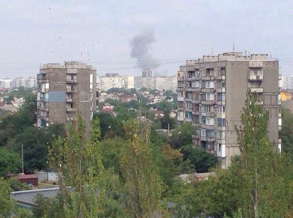 Mariupol, Eastern district. Shelling