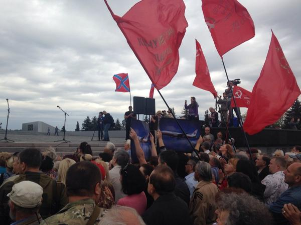 Rally in Donetsk today