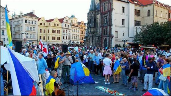 Rally in Czech