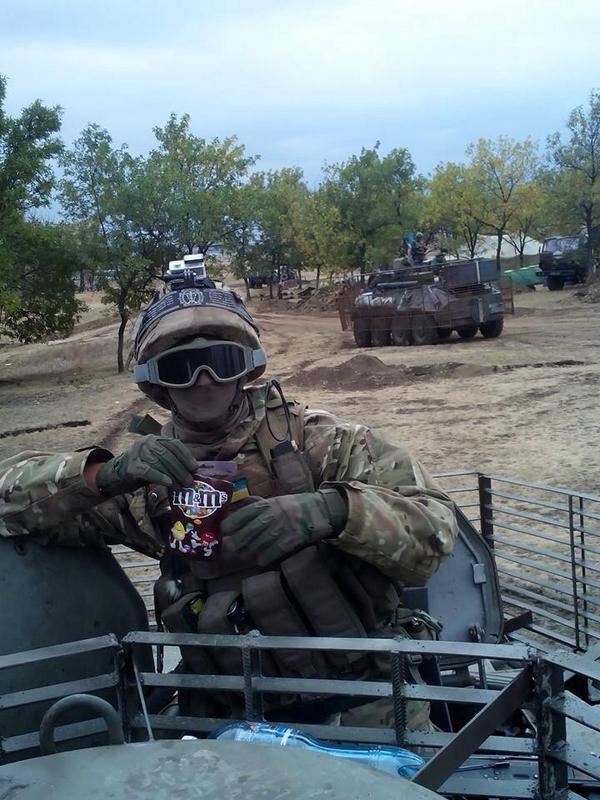 Ukrainian soldier in Debaltseve