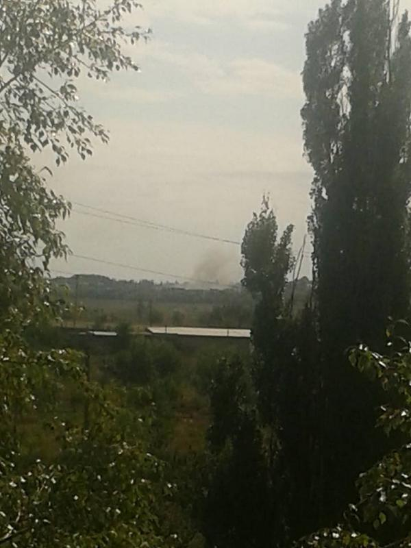 Grad shelling in Donetsk