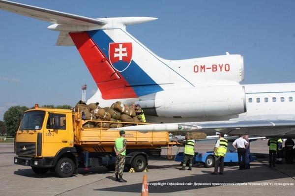 Slovakia has provided humanitarian aid to the Ukrainian forces