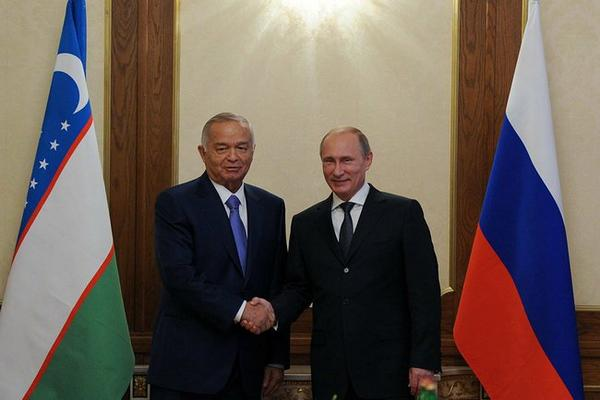 Vladimir Putin met with President of Uzbekistan Islam Karimov on the sidelines of SCO summit