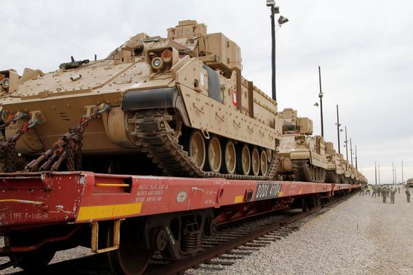 Bradley Fighting Vehicles to Poland, Estonia, Latvia, Lithuania in Operation Atlantic Resolve