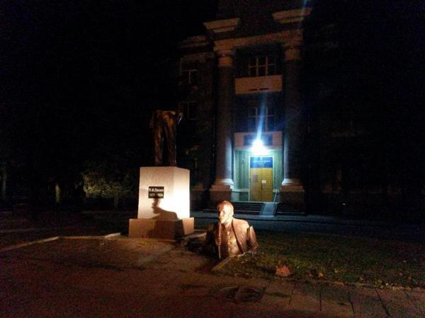 One more Lenin downed in Kharkiv