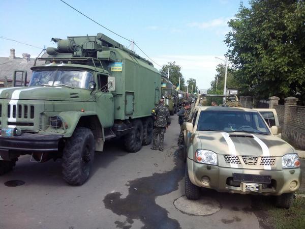 Ukrainian forces in Volnovaha