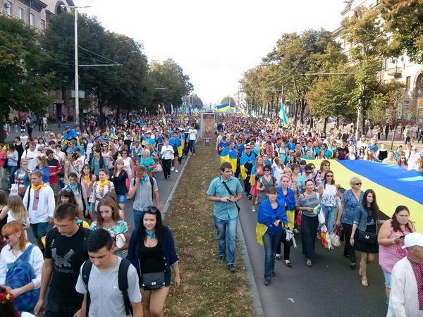Patriots' rally in Zaporizhia