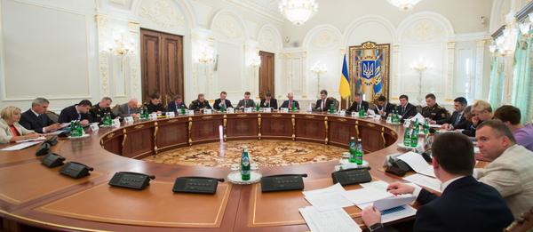 In the Administration of the President of Ukraine held a meeting of the NSDC