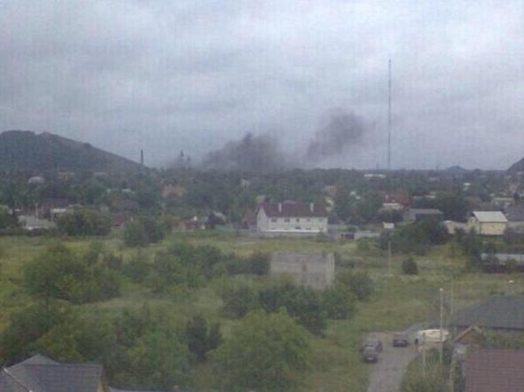 Shelling in Donetsk