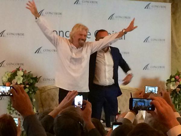 Founder of Virgin Group Richard Branson wearing Ukraine national shirt 'vyshyvanka'