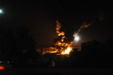 Kharkiv. Heavy explosion near airport, black smoke