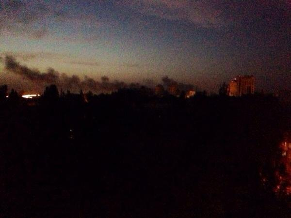 Donetsk now. The smoke from the airport