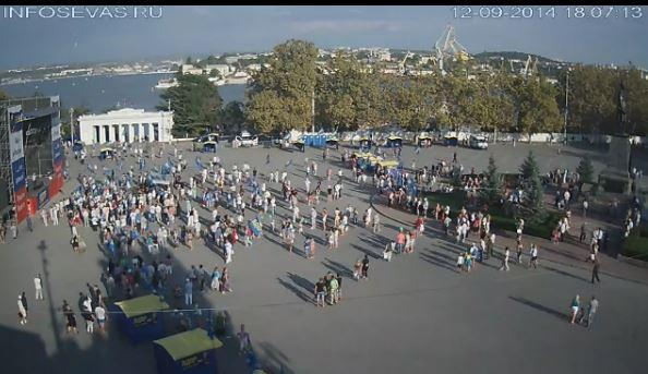 Rally in Sevastopol in support of  Zhirinovsky