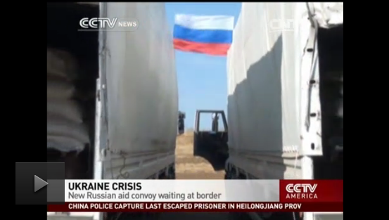 Russia|n military truck convoy arrived at Donetsk, RU nr Ukraine's