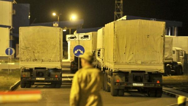 The first batch of trucks loaded with humanitarian aid from Russia entered the territory of Ukraine