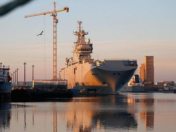 Russia|ns tested the 1st French Mistral at Saint-Nazaire