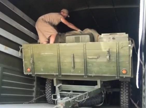 Humanitarian convoy dropped weapons in Krasnodon