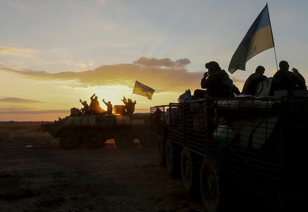 Ukrainian forces in Debaltsevo